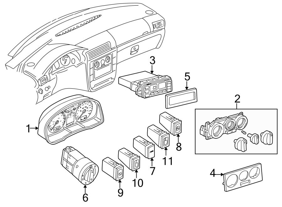 2001 Volkswagen Passat Instrument Cluster  Manual  Liter