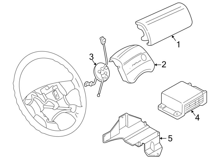 1997 Volkswagen Eurovan Steering Wheel Air Bag  Driver